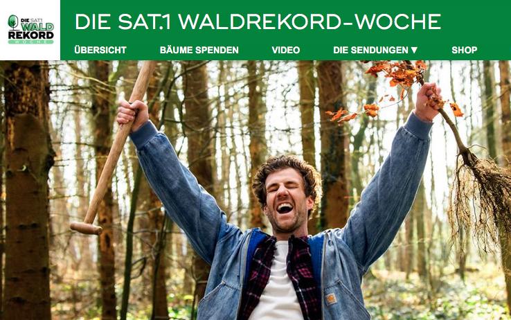 Screenshot https://www.sat1.de/tv/die-sat-1-waldrekord-woche/news/waldrekord-sat-1-zuschauer-innen-pflanzen-sensationelle-1-4-millionen-baeume-fuers-klima-102906